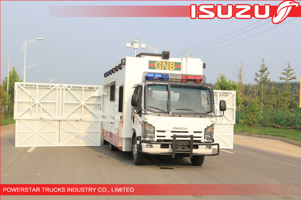 Isuzu Police Workshop Truck with guard for Emergency