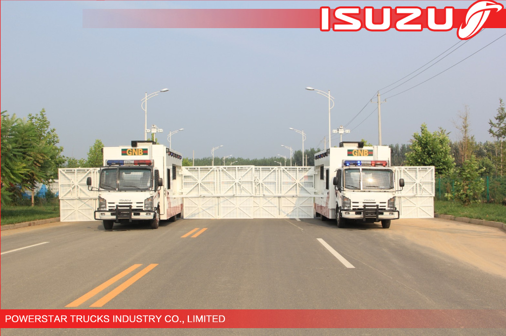 Japanese Isuzu Police Workshop Truck with guard for Emergency supplier