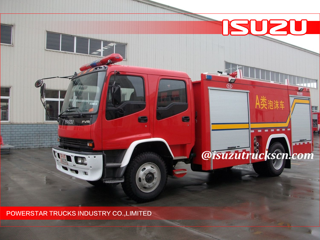 Isuzu-Foam-Water-Tank-Fire-Truck