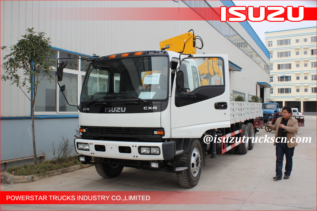 Isuzu truck with Telescopic boom crane SQS200