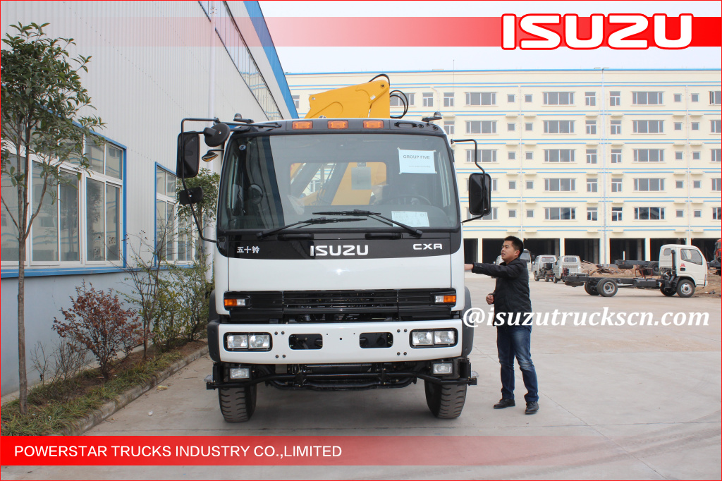 Truck loader crane Isuzu with 12tons Telescopic Boom Truck Crane