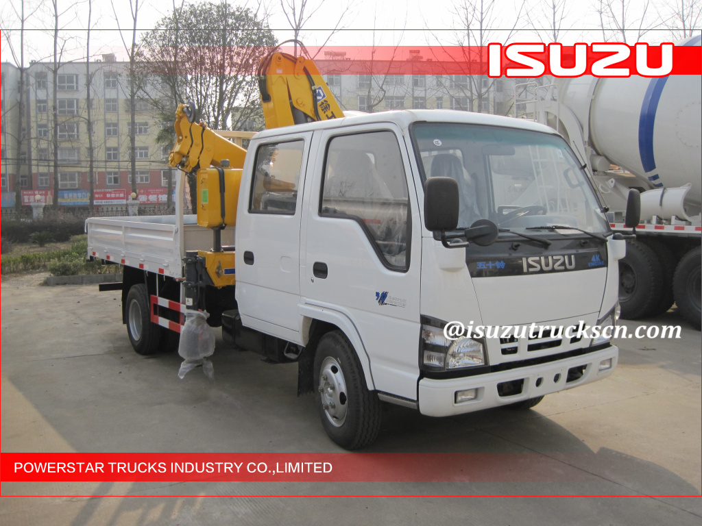 ISUZU lorry truck mounted hydraulic crane for sale in Myanmar
