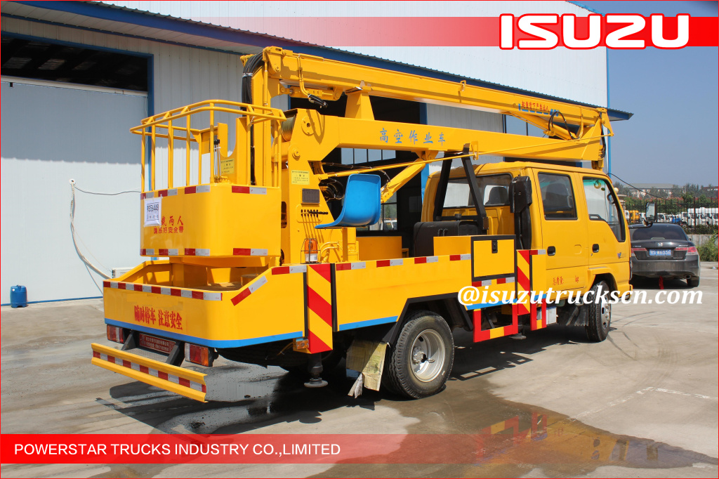 Isuzu Vehicle Mounted Boom Lift three telescopic arms truck