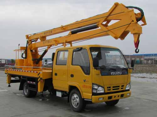 High quality Isuzu Aerial Working Truck Mounted Lift 200kg