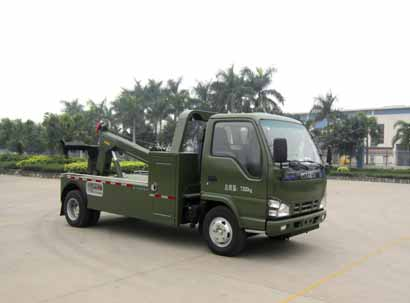 wrecker refited from dongfeng EQ1051G51DJ3A chassis ,the vehicle appearance is esthetic ,durable in use , Tow and hang and connect with the body, the function is powerful ,is the best style of removing obstacles on the road and garage.