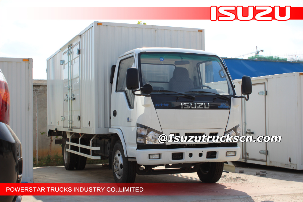 Isuzu ELF 4X2 light duty van type truck 3T van cargo truck