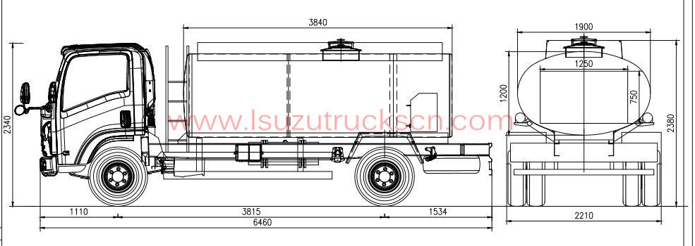haute efficacit u00e9 5 cubes m u00e8tre r u00e9servoir camion isuzu