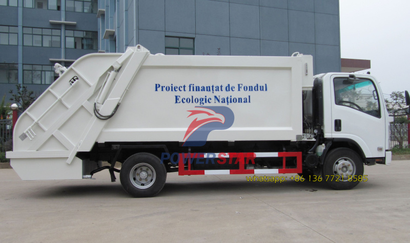 To Moldova Quality 10cbm Refuse compactor vehicle Isuzu Trucks