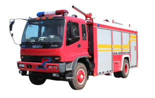 Isuzu foam fire vehicle for export