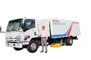 Japan high performance Isuzu sweeping vehicle
