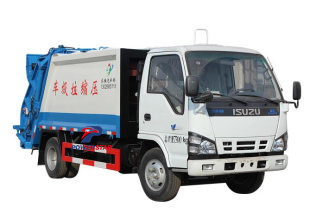 5tons city used garbage compactor truck Isuzu trucks