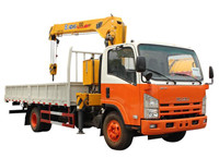Customized 5tons Isuzu trucks mounted crane for sale