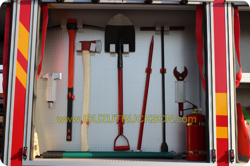 2,000L water tanker fire truck Isuzu fire accessories and equipments