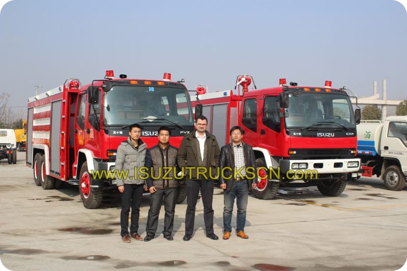 Water Fire Truck Isuzu (2,000L) performance testing
