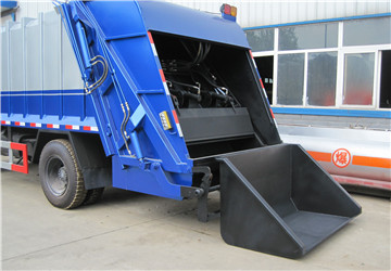 bin hopper for garbage compactor truck