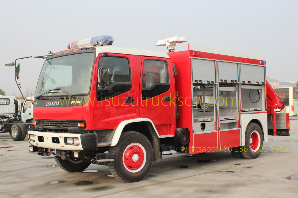 pictures for Emergency Rescue Fire Trucks Rescue Tender Truck ISUZU