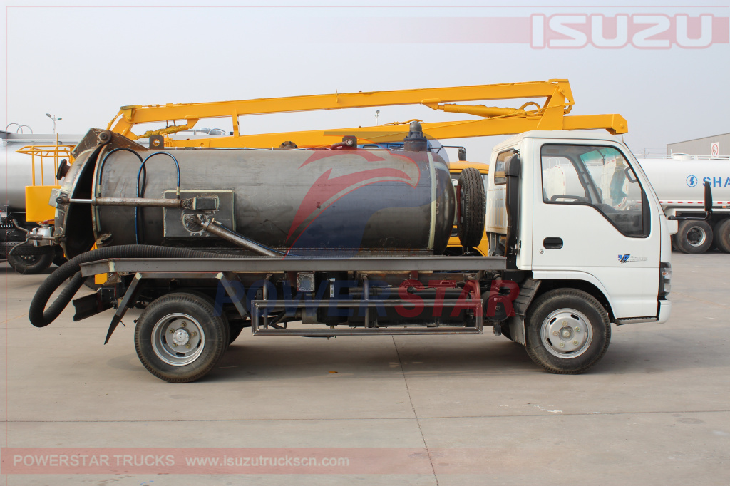 details picture and specification for Vacuum Tanker Truck Isuzu (5,000L)