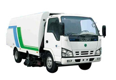 suction road sweeper vehicle Isuzu