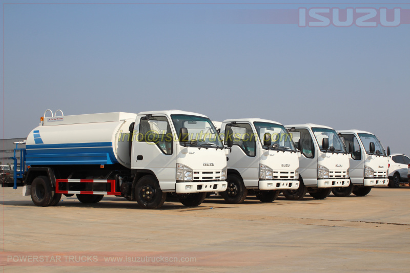Water Bowsers Isuzu ELF tanker trucks 5,000Liters pictures