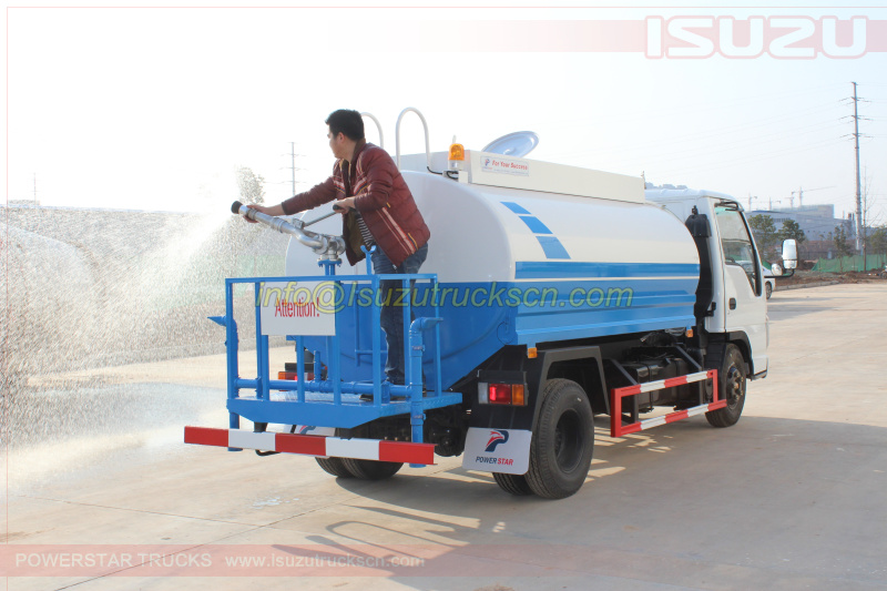 Water Bowsers Isuzu ELF tanker trucks 5,000Liters specification and pictures