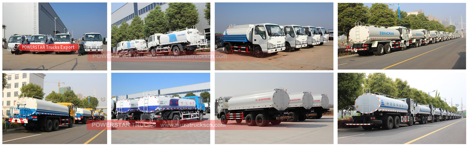 customer build water tank bowser Isuzu store for sale
