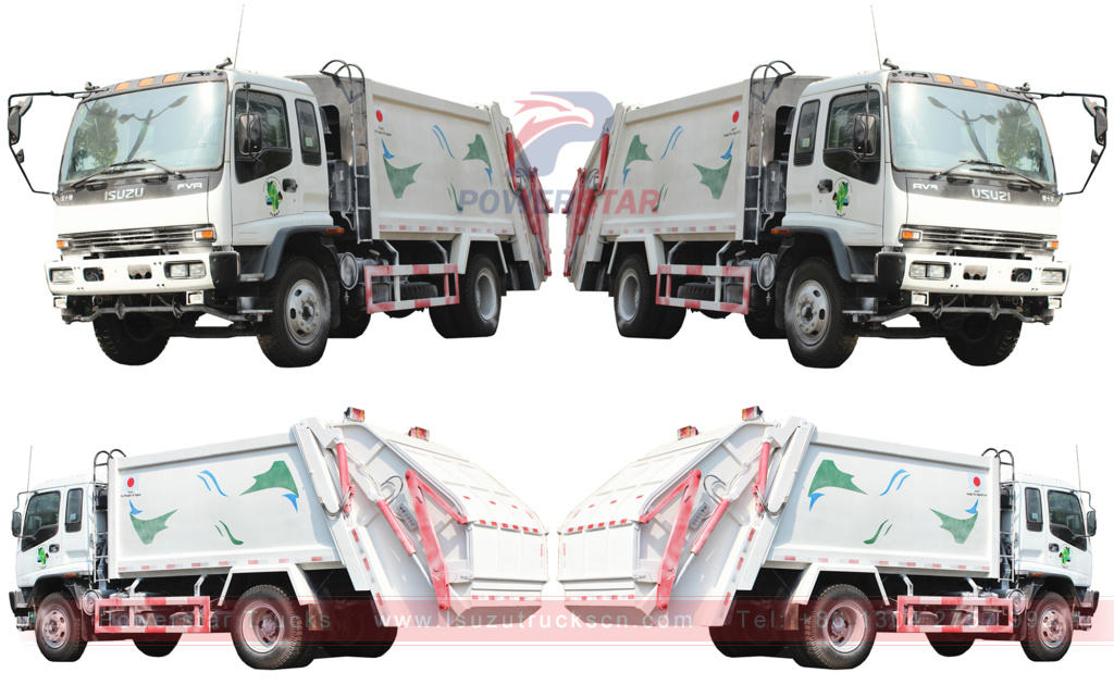 detail pictures for Refuse compactor truck Isuzu 12 cbm