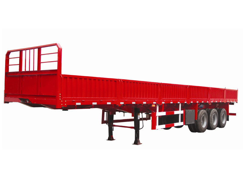 Drop side semi trailer Powerstar brand side wall trailer for cargo transport
