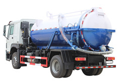 suction New Isuzu 10 cbm High Pressure Cleaning & Vacuum Sewage Suction vehicle