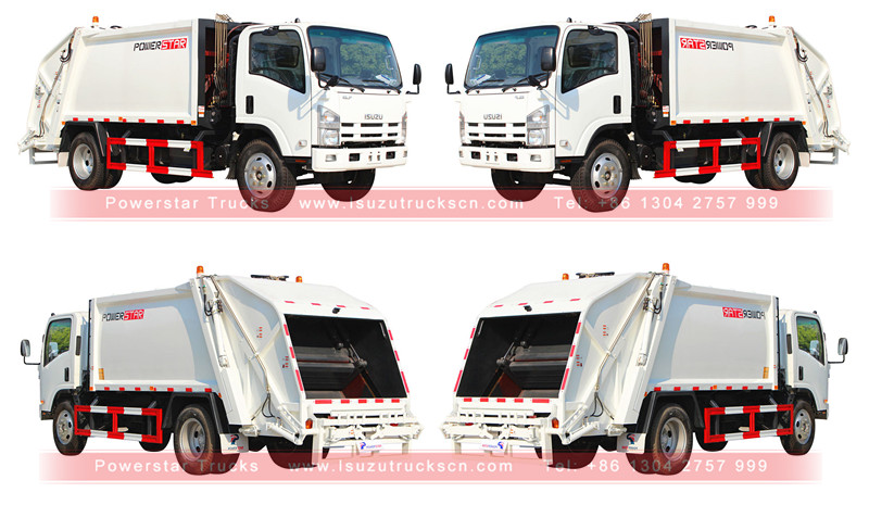 NPR Rear loader garbage truck Isuzu ELF Garbage compacting Vehicle