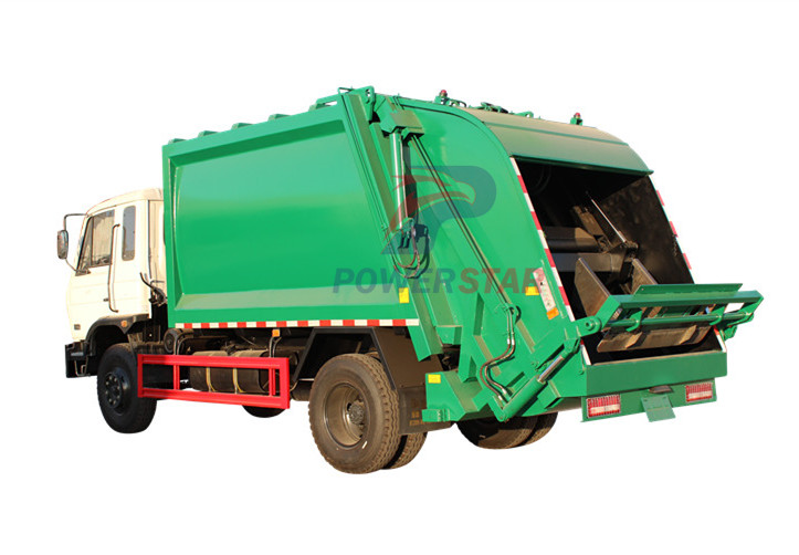 Garbage compactor recyling truck