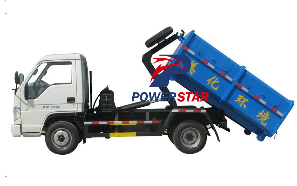 Detachable garbage bin trucks