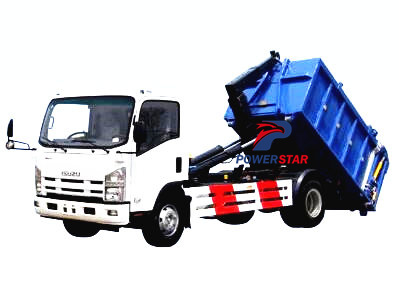 Isuzu hook loader garbage truck by powerstar