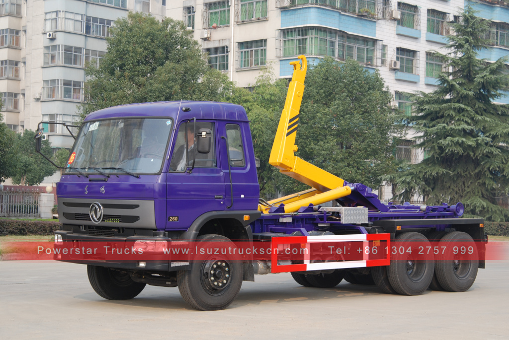 Japan best 20tons 6X4 Swing Arm Type Garbage Truck Hook Lift Garbage Truck for Sale