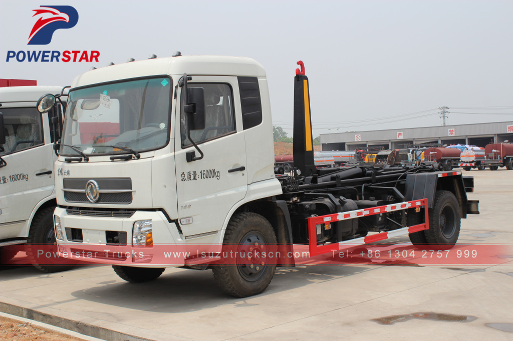 Container Detachable Garbage Truck Isuzu 12 Tons