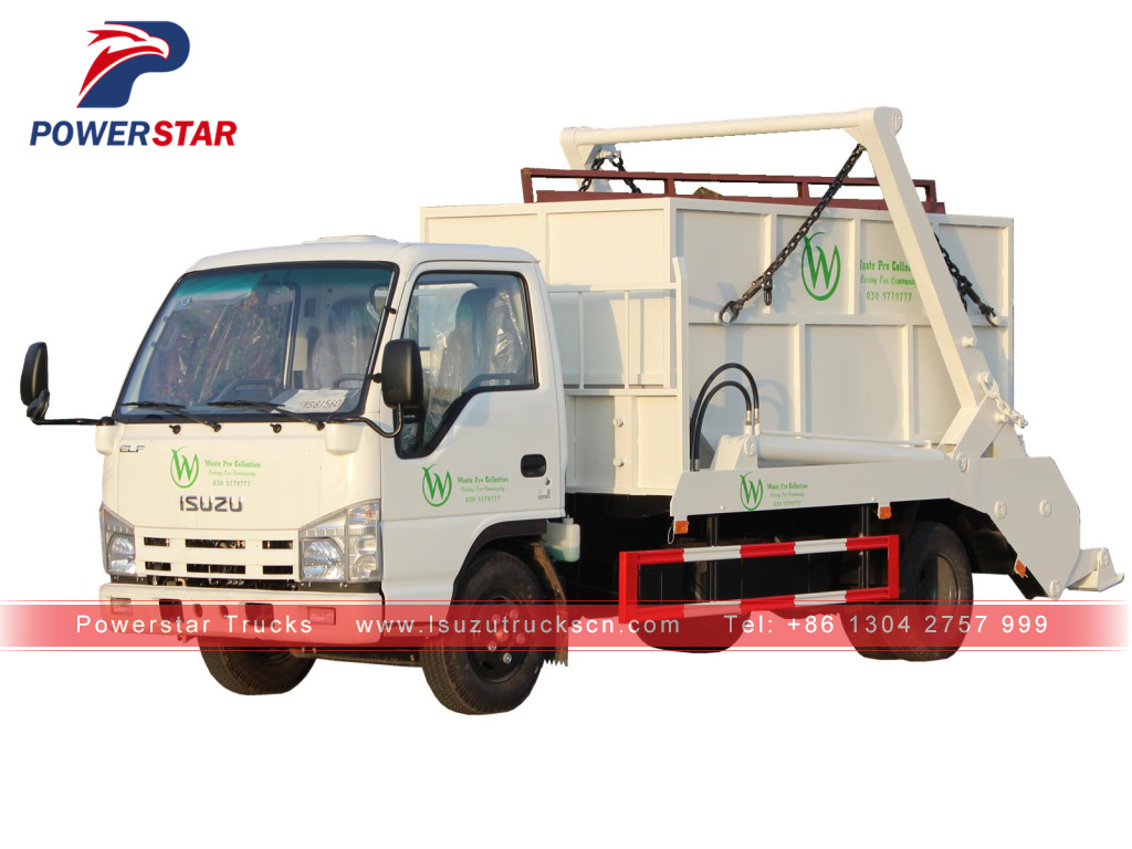 Swing Arm container garbage truck Isuzu 6 cbm