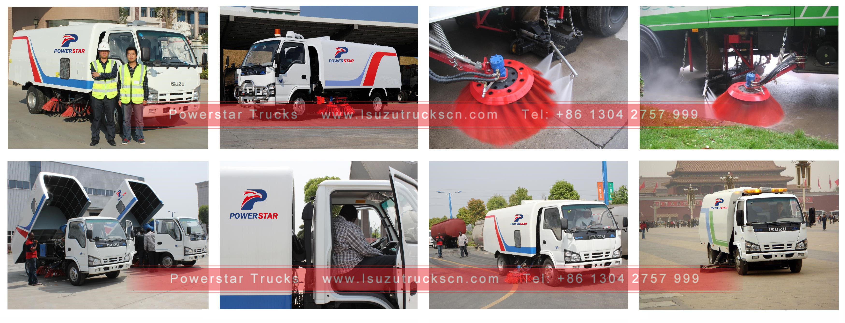 inspection and training for Industrial Road sweeper Isuzu