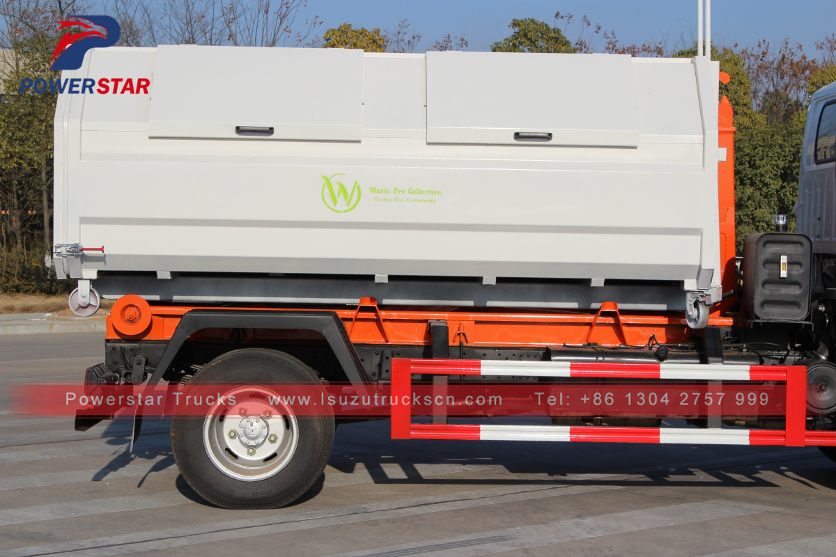 Powerstar brand hydraulic hooklift diesel garbage truck for sale