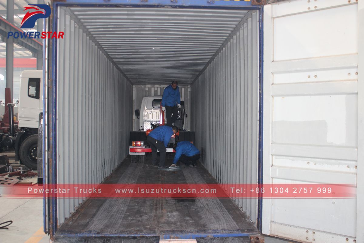 4m3 Isuzu self loading Hook lift garbage truck for sale