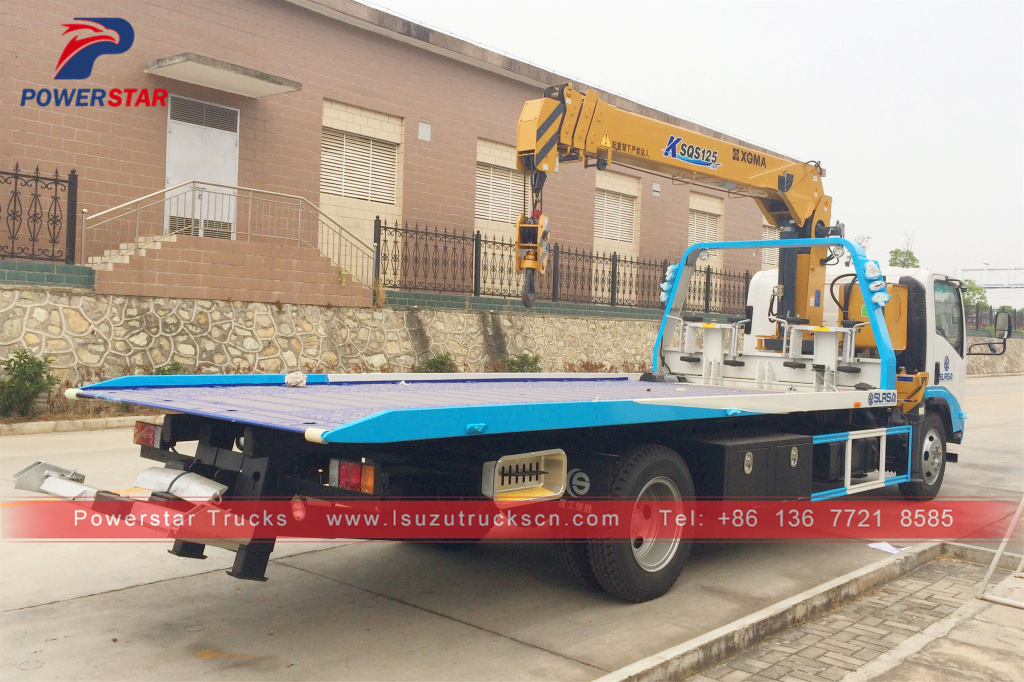 Flatbed Carrier with Crane Isuzu