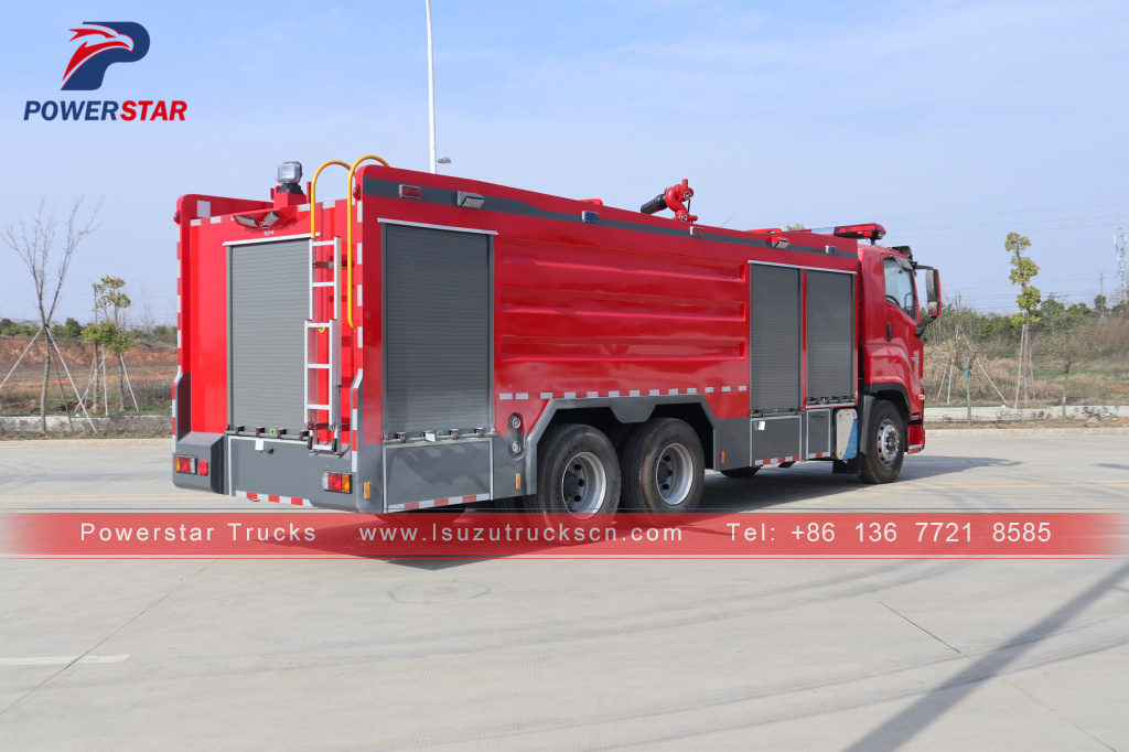 Japan ISUZU GIGA Firefighting Water FoamDry Powder Monitor Fire Truck for sale