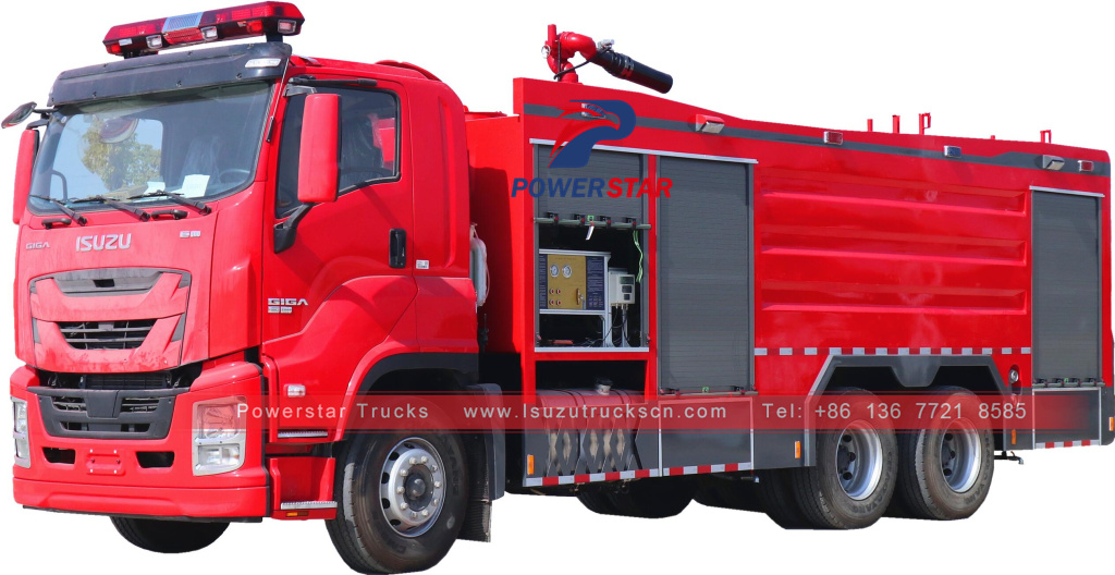 GIGA ISUZU New Multi-function foam fire trucks Fire Fighting Truck Diesel Fire Trucks