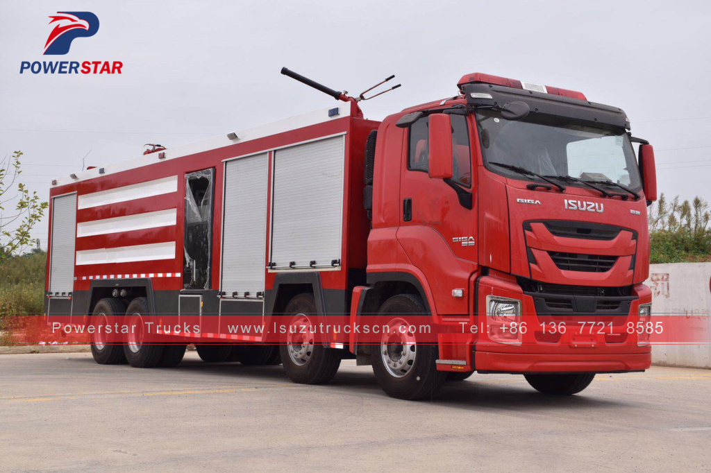 Brand new Customer made ISUZU GIGA Water/foam/dry powder Fire Engine Trucks for sale