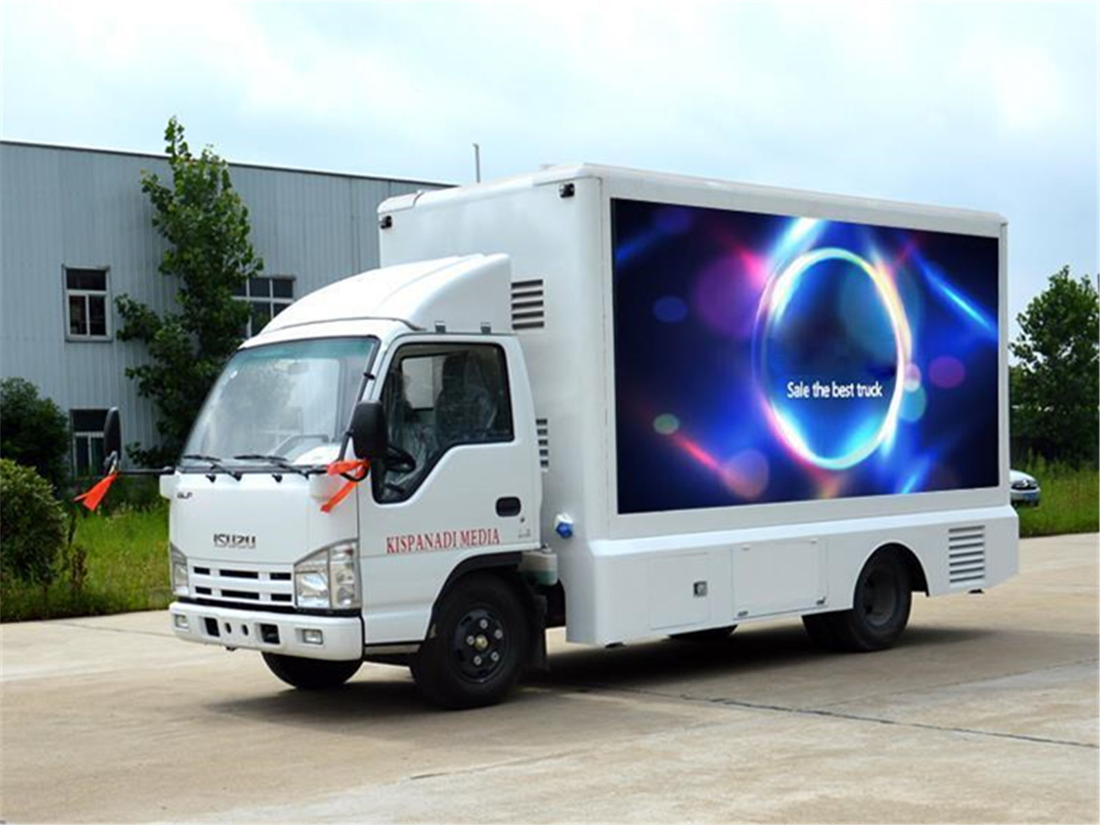 ISUZU 4x2 outdoor LED panel Advertising Display Truck