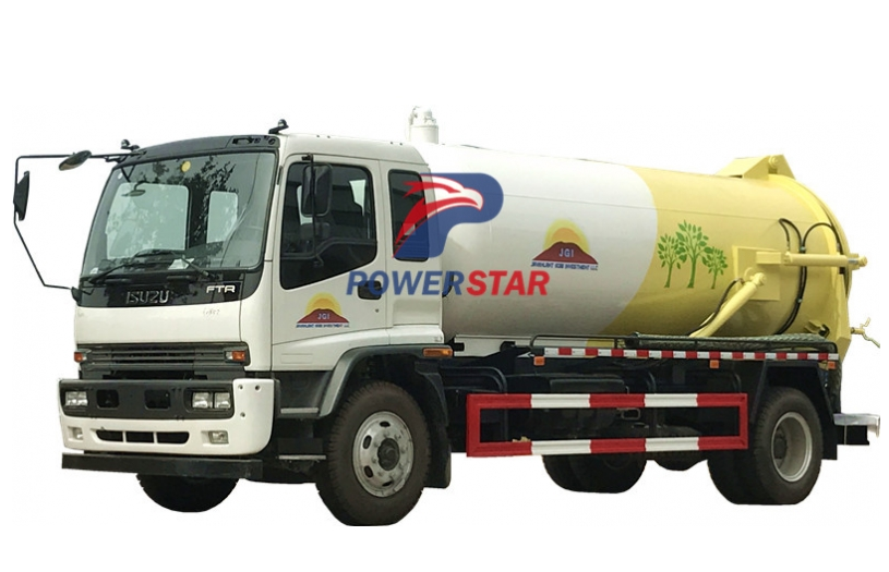 Vacuum suction truck Isuzu FTR sewage pump trucks