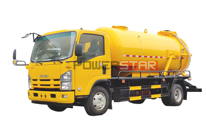 ISUZU ELF NPR Sewage suction trucks