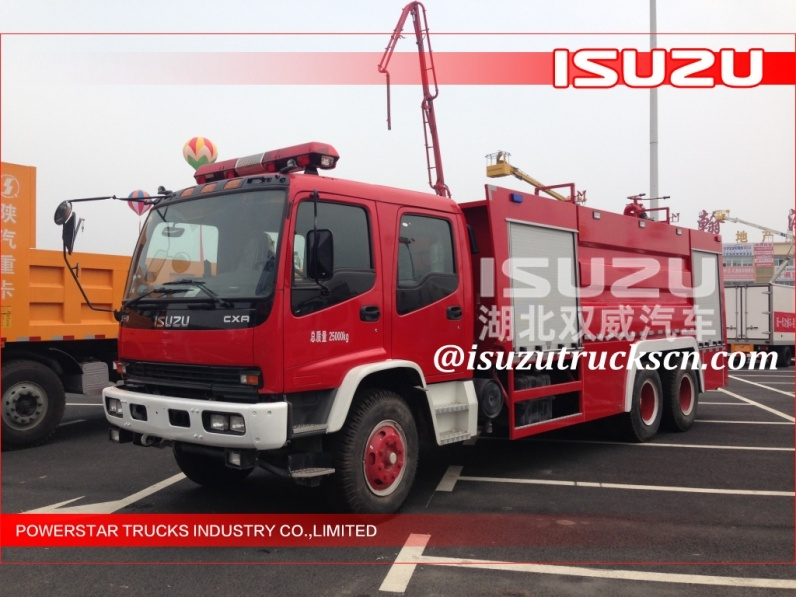 Best 10000L Isuzu Emergency Water Foam Fire Truck with Dry powder