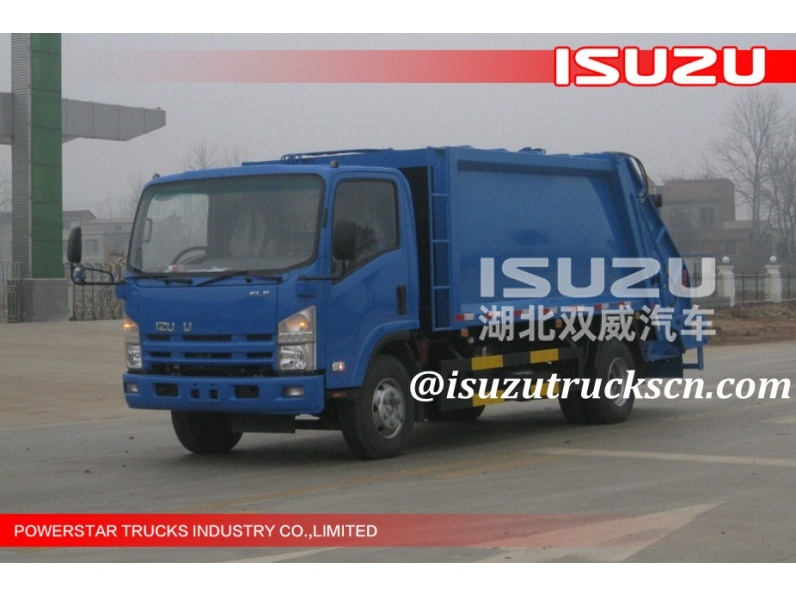Hydraulic 3tons 5Tons Isuzu Garage Truck for waste transportation