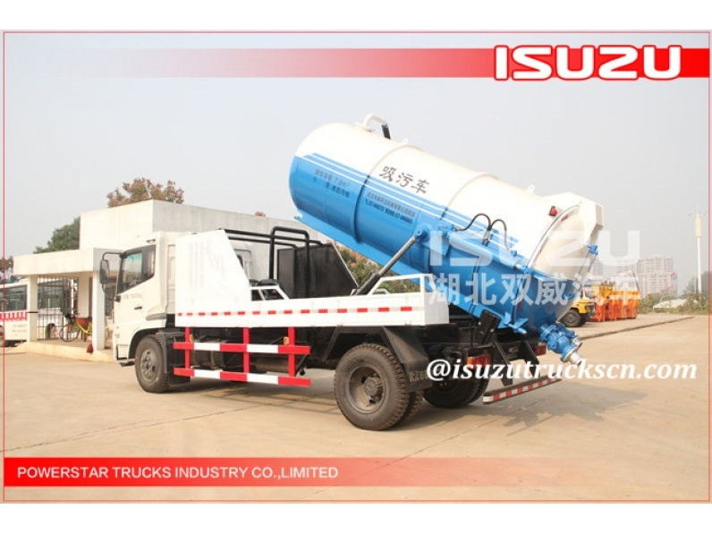 JAPAN 14,000Liter FVR FVZ Isuzu Truck Mounted Vacuum Suction Truck