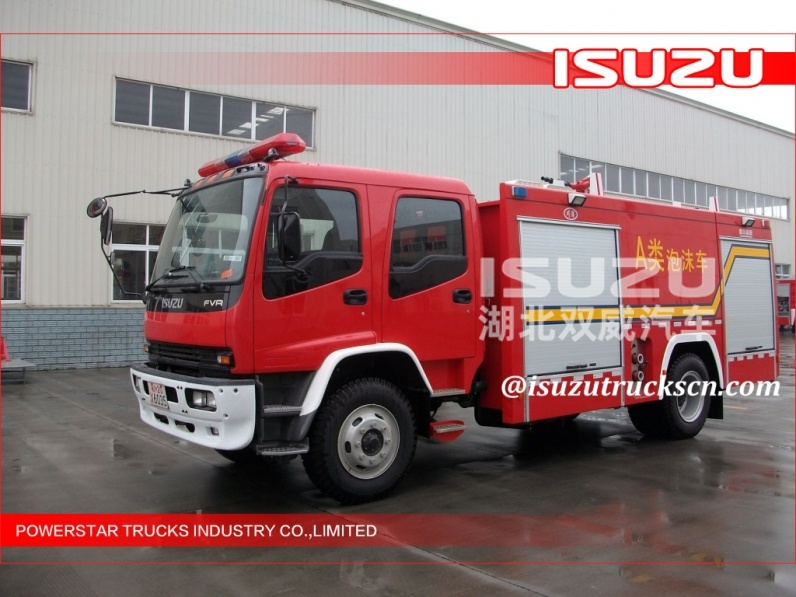 Japanese quality Air compressor set Isuzu Fire truck air supply vehicle