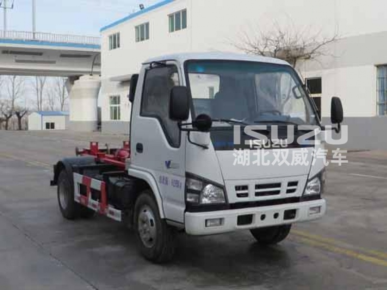 3tons Euro4 Engine ISUZU 4X2 Hook Lift /Roll-off Garbage Truck